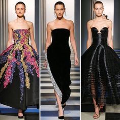 @bellahadid closed the @oscardelarenta show in a chic black evening gown. Click the link in our bio to see every single look from the #AW17 catwalk. ( by @gettyimages) #BazaarLoves #Fashion #NYFW #ODLRAW17  via HARPER'S BAZAAR UK MAGAZINE OFFICIAL INSTAGRAM - Fashion Campaigns  Haute Couture  Advertising  Editorial Photography  Magazine Cover Designs  Supermodels  Runway Models
