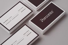 PERCONTE #minimalistic business card