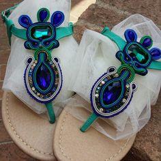 Sandali con applicazioni in soutache  Soutache accessories