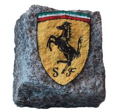 "Ferrari logo - rock painting after the ""Cavallino Rampante"" Scuderia ..."