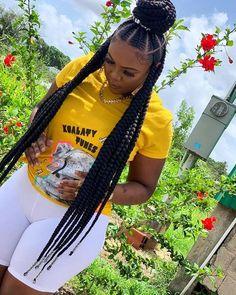 Braided Cornrow Hairstyles, Big Box Braids Hairstyles, Braids Hairstyles Pictures, Black Girl Braids, Braided Hairstyles For Black Women, African Braids Hairstyles, Braids For Black Hair, Girl Hairstyles, Cornrows