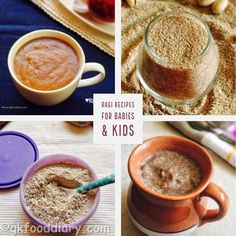 Ragi Recipes for Babies & Toddlers Baby Food Recipes Stage 1, Indian Baby Food Recipes, Baby Foods, I Foods, Ragi Recipes, Baby Pancakes, Vegetarian Kids, Healthy Weight Gain, Sprout Recipes
