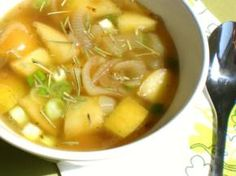 Apple and Onion Soup Recipe (Incl. Nutrition Facts) | Main Dishes for Fighting PCOS (Recipes)  This soup is crammed with chromium. Chromium is a component of the glucose tolerance factor (GTF) which helps maintain normal blood glucose levels by making insulin more efficient. This will fight insulin resistance which is often associated with PCOS. Furthermore, chromium promotes weight loss due to its ability to help control cravings, reduce hunger, and control fat in the blood.
