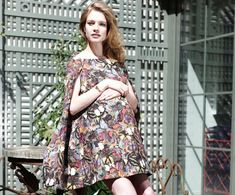 Gorgeous and trendy maternity floral dress