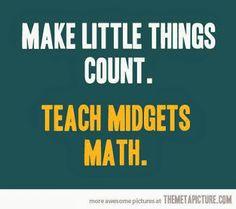 Make Little Things Count.  Teach Midgets Math.