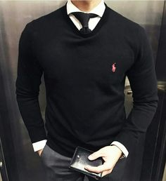 Tie underneath sweater
