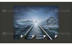 Pociąg widmo  - mroczna ale jednocześnie nastrojowa fototapeta - idealna do pokoju nastolatka.