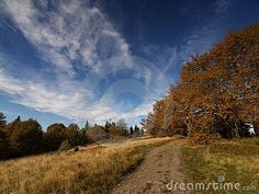 Autumn in polish mountains Beskidy