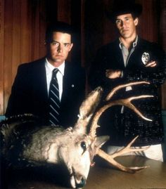 Photo of agent cooper & sheriff truman for fans of Twin Peaks 4244768 Twin Peaks Tv, Twin Peaks 1990, David Lynch Twin Peaks, Jean Reno, John Malkovich, Kevin Spacey, Bruce Willis, Tom Cruise, Best Tv Shows