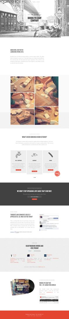 Lovely responsive one pager for the The Brooklyn Soap Company, not to mention their product and packaging looks a treat http://onepagelove.com/the-brooklyn-soap-company