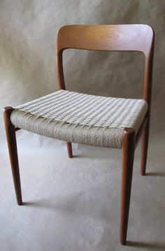 Danish Modern Teak Dining Chair by Designer N. Møller.