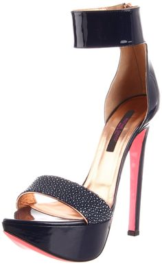 Ruthie Davis Women's Dragon Ankle-Strap Sandal-Navy