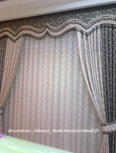 double valance Curtains And Draperies, Elegant Curtains, Home Curtains, Curtains Living, Modern Curtains, Window Curtains, Valances, Drapery, Window Cornices