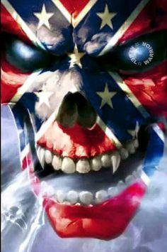 Rebel Skull Flag!