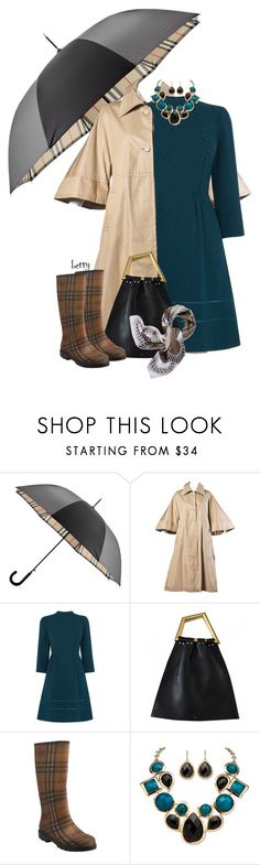 """""""Burberry rain gear"""" by berry1975 ❤ liked on Polyvore featuring Burberry, Ted Lapidus, Oasis, Palm Beach Jewelry, Tory Burch, women's clothing, women, female, woman and misses"""