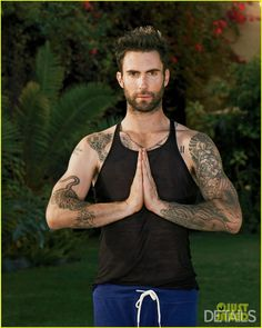details magazine adam levine yoga - Google Search