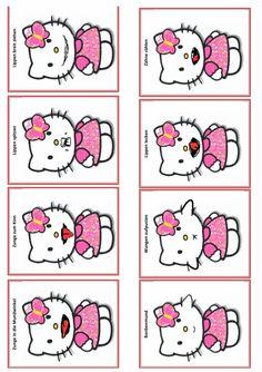 Und wieder was für die Kinder mit einer MFS: Mundmotorikkarten speziell für die Fans von Hello Kitty. Therapiematerial für die Logopädie zu myofunktionelle Störung auf madoo.net