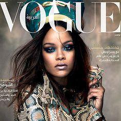 Rihanna GLAM - Rihanna for Vogue Arabia November 2017 Vogue Makeup, Beauty Makeup, Rihanna Vogue, Rihanna Cover, Rihanna Makeup, Fast Fashion, Snake Print, Blue Hair, Halloween Face Makeup