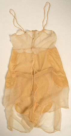 Teddy  House of Lanvin  (French, founded 1889)  Designer: Jeanne Lanvin (French, 1867–1946) Date: 1920s  Back view