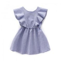 Ruffled Sleeveless Dress for Toddler Girls