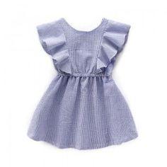 Ruffled Sleeveless Dress for Toddler Girls