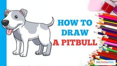 Popular Cartoons, Cartoon Characters, Fictional Characters, Step By Step Drawing, Drawing Tutorials, Animal Drawings, Easy Drawings, Art Projects, Pitbulls