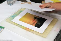 Gelatin Printing in the Studio - Linda Germain Printmaking I did a couple of different techniques that helped to produce a strong series of gelatin prints.
