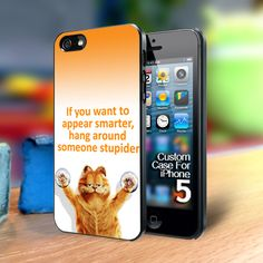 Garfield quote Iphone 5 case | TheYudiCase - Accessories on ArtFire