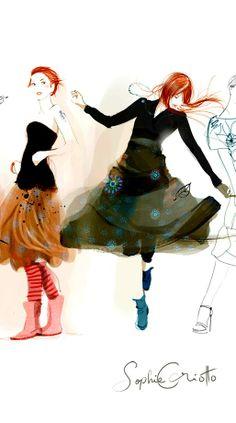 Sophie Griotto #fashion #illustration