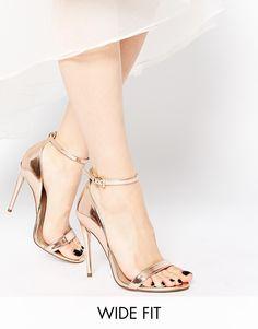 8583f3251d1 ASOS HONEY Wide Fit Heeled Sandals at asos.com