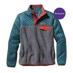 Patagonia Women's Mixed Snap-T Pullover - Crater Blue Patagonia Pullover, Patagonia Brand, Outdoor Wear, Outdoor Outfit, Winter Wear, Autumn Winter Fashion, Winter Style, Winter Outfits, Fashion Clothes