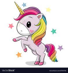 Cartoon Unicorn isolated on a white background. Cute Cartoon Unicorn isolated on a white background vector illustration Unicorn Painting, Unicorn Drawing, Cartoon Unicorn, Unicorn Art, Cute Rainbow Unicorn, Baby Unicorn, Cute Unicorn, Kids Cartoon Characters, Cartoon Pics