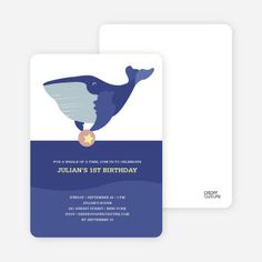 Whale of Time Modern Birthday Invitation