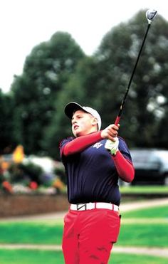 Indian Valley High School's Brett Rentsch tees off during the Division II sectional golf tournament Monday at River Greens Golf Course in West Lafayette.