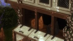 ✿Roli Cannoli CC Findz Corner✿ — aggressivekitty: AGGRESSIVEKITTY: FUNCTIONAL... Cottage Living, Country Living, French Farmhouse, Farmhouse Decor, Cute Sister, Sims Building, Sims 4 Mm Cc, English Kitchens, New Farm