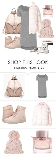 """""""pink winter"""" by ayupowa-m ❤ liked on Polyvore featuring Rebecca Minkoff, T By Alexander Wang, Timberland, Chiara Ferragni, Barneys New York and Burberry"""