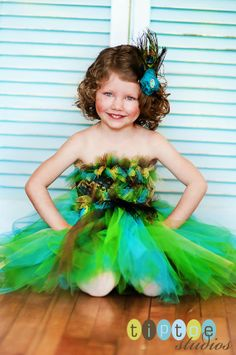 Peacock Inspired Tutu by Tiny Toes Bowtique on Etsy, $39.00