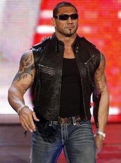 Dave Batista WWE Wrestler Black Leather Vest for Mens Black Leather Vest, Black Vest, Leather Jackets, Batista Wwe, Rugby, Dave Bautista, Catch, Wrestling Superstars, Lucha Libre