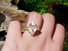 The Queen // Raw Diamond Ring // Sterling Silver// size 7