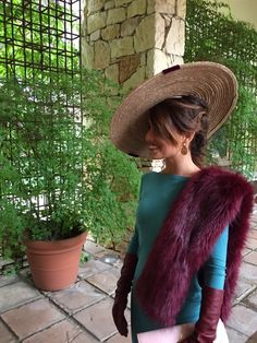 Fur Fashion, Fashion Dresses, Ladies Day Outfits, Made Of Honor, Special Occasion Outfits, Wearing A Hat, Soft Summer, Vintage Glamour, Wedding Looks
