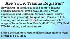 Hiring Trauma Registrars Now! Healthcare Jobs, Medical Coder, Trauma, Health Care, Coding, Positivity, Feelings, Programming