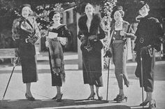 File:StateLibQld 2 206817 Mannequins modelling race day fashions at Ascot, Brisbane, 1935.jpg