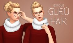 [Enrique] Gurú Hair• This hair it´s no compatible whit hats. • This hair is available from teen to elder. • It´s Base Game Compatible. • 18 Colors by EA. • Maxis Match Hair. • Please tagme as...