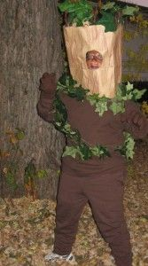 home made tree costume