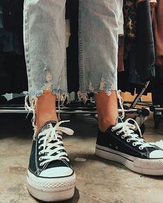 980d7a43cc9994 Converse Platform  converse  chucktaylor  allstars  sneakers  sneakerhead   rippeddenim  denim  fashion  style  styleinspiration  generalpants
