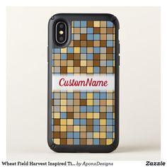 Wheat Field Harvest Inspired Tiles Pattern Name - red gifts color style cyo diy personalize unique Cool Phone Cases, Iphone Case Covers, Wheat Fields, Red Gifts, Pattern Names, Tile Patterns, Iphone 11, Harvest, Tiles