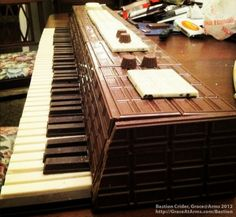 Bastion's Chocolate Piano--my two favorite things, piano and chocolate!