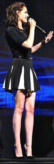 Kristen in a Cheerleader style skirt