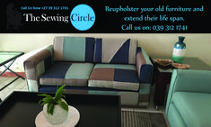 Reupholster your old furniture and extend their life span.  Over at The Sewing Circle we take great pride and care in all of our work to ensure a happy satisfied client.  Our wide range of services are not only limited to car, boat and furniture upholstery as we also supply curtain rails, pelmets and much more.  For any more information please don't hesitate to give us a call.  Phone: 039 312 1741  Email: Info@TheSewingCircle.co.za   Website: www.TheSewingCircle.co.za  #TheSewingCircle…