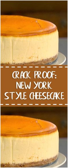 Crack Proof: New York Style Cheesecake #crackproof #cheesecake #whole30 #foodlover #homecooking #cooking #cookingtips